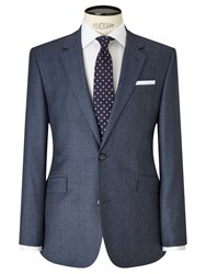 John Lewis Flannel Tailored Suit Jacket Airforce Blue