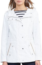 Lauren Ralph Lauren Women's Hooded Drawcord Jacket White