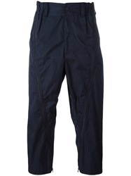 Issey Miyake Men Drop Crotch Trousers Blue