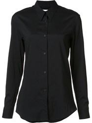 Christophe Lemaire Pointed Collar Shirt Black
