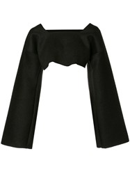 Sabine Luise Cropped Cashmere Blouse Black