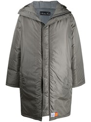Martine Rose Hooded Coat Grey