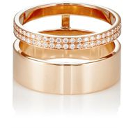 Repossi Women's Berbere Module Double Band Cage Ring Red