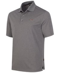Greg Norman For Tasso Elba Big And Tall 5 Iron Performance Golf Polo Medium Grey Heather