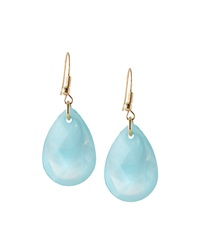 Greenbeads By Emily And Ashley Faceted Teardrop Earrings Aqua
