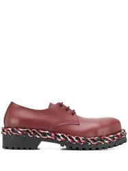 Balenciaga Laces Derby Shoes Red