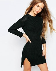B.Young Knitted Jersey Dress Dark Forest Green