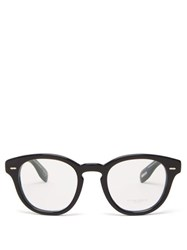 Oliver Peoples Cary Grant Round Acetate Glasses Black