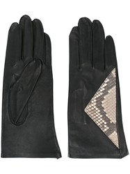 Jean Paul Gaultier Vintage Snakeskin Panel Gloves Black
