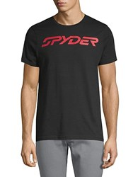 Spyder Logo Graphic Cotton Tee Black
