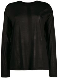 Tom Ford Jersey W Tag Longsleeve R Neck Black