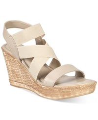 Easy Street Shoes Tuscany Felisa Wedge Sandals Women's Taupe