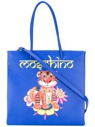 Moschino Tiger Tote Bag Blue