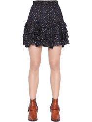 Just Cavalli Polka Dots Printed Silk Georgette Skirt