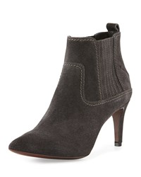 Cnc Costume National Pointed Toe Suede Ankle Boot Gray Grey