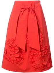 Josie Natori 3D Embroidered Skirt