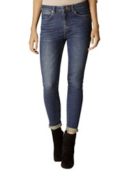 Karen Millen High Waist Skinny Jeans Dark Denim