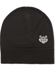 Kenzo Tiger Embroidered Wool Beanie Black