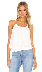 Krisa Smocked Waist Halter Tank In Ivory. Cream