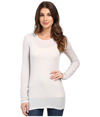 Ag Adriano Goldschmied Logan Long Sleeve Weathered Ice True White Women's Sweater