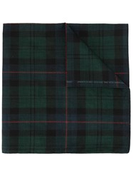 Undercover Plaid Print Scarf Green