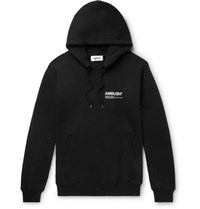 Ambush Logo Print Loopback Cotton Jersey Hoodie Black