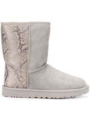 Ugg Australia Fur Lined Boots Silver