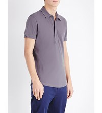Orlebar Brown Sebastian Cotton Pique Polo Shirt Fossil