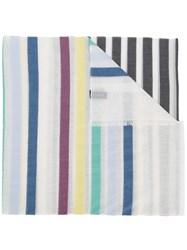 Paul Smith Ps By Striped Scarf White