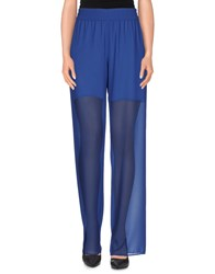 Biancoghiaccio Trousers Casual Trousers Women Blue