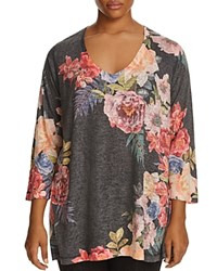 Nally And Millie Plus Floral Print Tunic