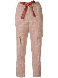 Manning Cartell Ribbon Drawstring Check Trousers Brown