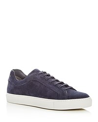 To Boot New York Men's Hendrick Perforated Suede Lace Up Sneakers Blue