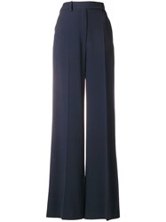 Paule Ka Creased Palazzo Trousers Blue