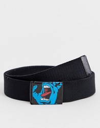 Santa Cruz Screaming Hand Belt In Black