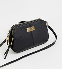 River Island Bag With Triple Compartment In Black