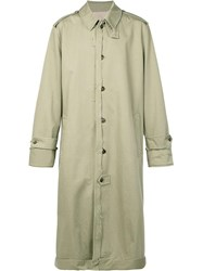 Maison Martin Margiela Raw Edge Trench Coat Green