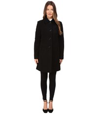 Kate Spade 4 Button A Line Single Breasted Coat W Bow Pockets Black