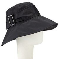 John Lewis Down Brim Buckle Rain Hat Black