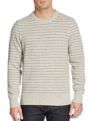 Jack Spade Turner Wool Blend Crewneck Sweater Camel Stripe