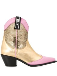 Msgm Western Style Boot Gold