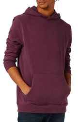 Topman Men's Crossover Hoodie Purple