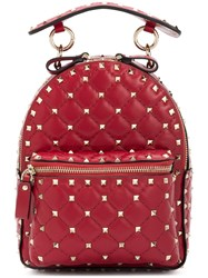 Valentino Rockstud Bacpack Red
