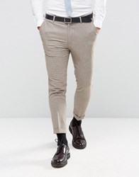 New Look Slim Suit Trousers In Stone Stone