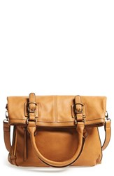 Sole Society 'Charlie' Foldover Tote Brown Camel