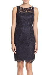 Women's Adrianna Papell Illusion Bodice Lace Sheath Dress