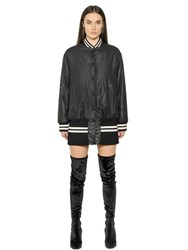 Maison Martin Margiela Water Repellant Long Nylon Bomber Jacket