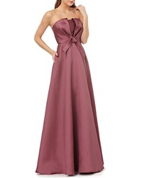 Kay Unger New York Strapless Ball Gown W Bow Bodice Mulberry