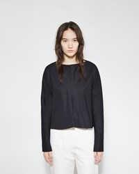 Marni Poplin Boatneck Blouse Midnight