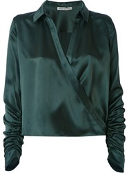 Martha Medeiros Wrap Andrea Shirt Green